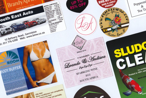 Digitally printed stickers or labels supplier johannesburg